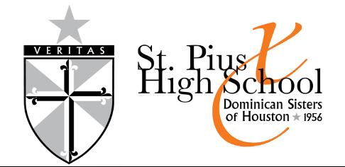 St. Pius High School Logo